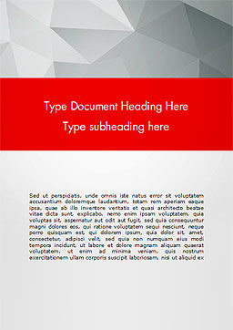 Grey Triangles with Red Line Word Template, Cover Page, 15040, Abstract/Textures — PoweredTemplate.com