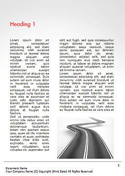 Uphill Winding Road Word Template, First Inner Page, 15043, 3D — PoweredTemplate.com