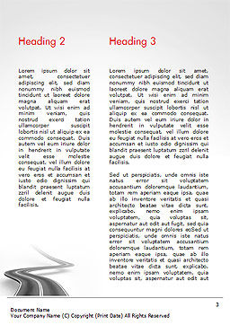 Uphill Winding Road Word Template, Second Inner Page, 15043, 3D — PoweredTemplate.com