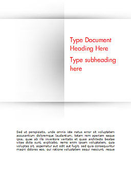 Open Album with White Sheets Word Template, Cover Page, 15047, Education & Training — PoweredTemplate.com