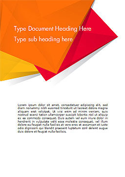 Three Bright Abstract Polygons Word Template, Cover Page, 15049, Abstract/Textures — PoweredTemplate.com