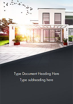 Stylish Modern Home Word Template, Cover Page, 15056, Construction — PoweredTemplate.com