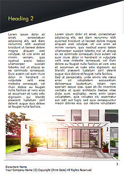 Stylish Modern Home Word Template, Second Inner Page, 15056, Construction — PoweredTemplate.com