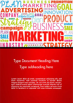 Marketing Strategy Word Cloud Word Template, Cover Page, 15059, Careers/Industry — PoweredTemplate.com