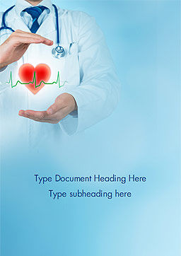 Cardiologist Word Template, Cover Page, 15064, Medical — PoweredTemplate.com