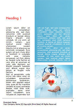 Cardiologist Word Template, First Inner Page, 15064, Medical — PoweredTemplate.com