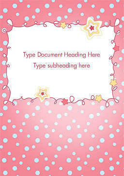 Pink Greeting Card Word Template, Cover Page, 15067, Holiday/Special Occasion — PoweredTemplate.com