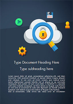 Cloud Computing Security Word Template, Cover Page, 15068, Technology, Science & Computers — PoweredTemplate.com