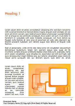 White Squares with Orange Frame Word Template, First Inner Page, 15070, Abstract/Textures — PoweredTemplate.com