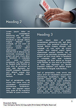 Drawer with Ideas Word Template, Second Inner Page, 15071, Business Concepts — PoweredTemplate.com