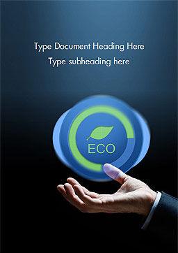 Eco Symbol Word Template, Cover Page, 15074, Nature & Environment — PoweredTemplate.com