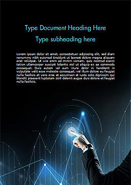 Digital Graph Word Template, Cover Page, 15079, Business Concepts — PoweredTemplate.com