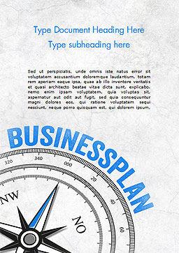 Business Plan Compass Concept Word Template, Cover Page, 15082, Business Concepts — PoweredTemplate.com