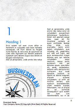 Business Plan Compass Concept Word Template, First Inner Page, 15082, Business Concepts — PoweredTemplate.com