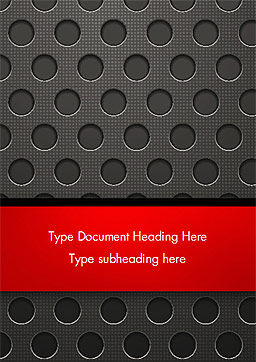 Dotted Metal Surface Word Template, Cover Page, 15083, Abstract/Textures — PoweredTemplate.com
