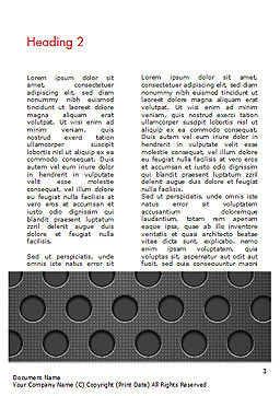 Dotted Metal Surface Word Template, Second Inner Page, 15083, Abstract/Textures — PoweredTemplate.com