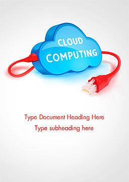 Cloud Computing Concept Word Template, Cover Page, 15087, Technology, Science & Computers — PoweredTemplate.com