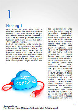 Cloud Computing Concept Word Template, First Inner Page, 15087, Technology, Science & Computers — PoweredTemplate.com