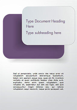 Rounded Rectangles Word Template, Cover Page, 15091, Abstract/Textures — PoweredTemplate.com