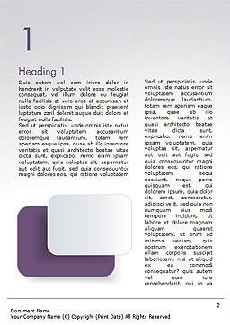 Rounded Rectangles Word Template, First Inner Page, 15091, Abstract/Textures — PoweredTemplate.com