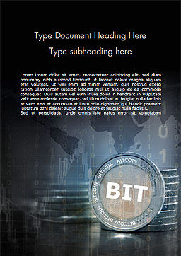 BIT Word Template, Cover Page, 15092, Technology, Science & Computers — PoweredTemplate.com
