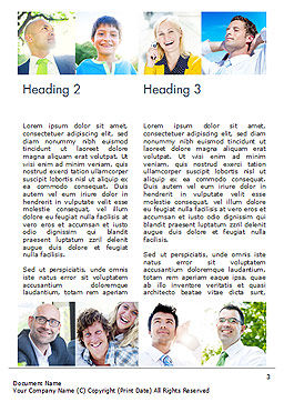 Multiethnic Diverse Cheerful People Word Template, Second Inner Page, 15094, People — PoweredTemplate.com