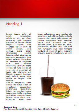 Fast Food Illustration Word Template, First Inner Page, 15095, Food & Beverage — PoweredTemplate.com