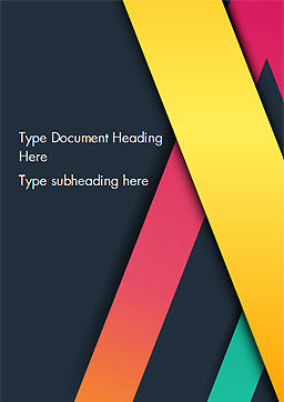 Bright Lines on Dark Background Word Template, Cover Page, 15096, Abstract/Textures — PoweredTemplate.com