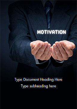 Glowing Word Motivation Word Template, Cover Page, 15105, Business Concepts — PoweredTemplate.com