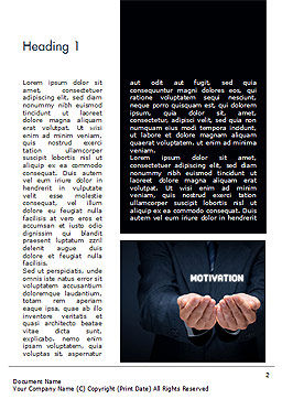 Glowing Word Motivation Word Template, First Inner Page, 15105, Business Concepts — PoweredTemplate.com