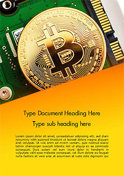 Bitcoin Mining Word Template, Cover Page, 15116, Technology, Science & Computers — PoweredTemplate.com
