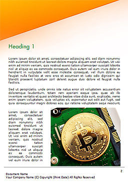 Bitcoin Mining Word Template, First Inner Page, 15116, Technology, Science & Computers — PoweredTemplate.com