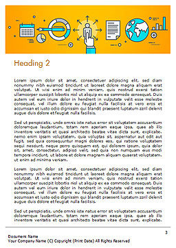 Human Resources Illustration Word Template, Second Inner Page, 15121, Business Concepts — PoweredTemplate.com