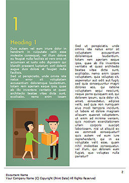 Delivery Service Illustration Word Template, First Inner Page, 15123, Careers/Industry — PoweredTemplate.com