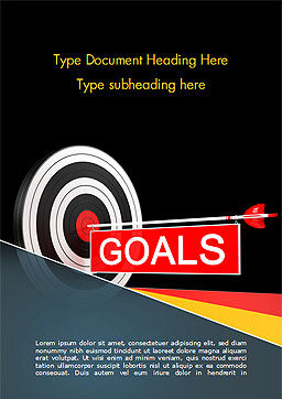 Goals Word Template, Cover Page, 15124, Business Concepts — PoweredTemplate.com