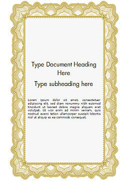 Certificate with Sinuous Pattern Word Template, Cover Page, 15131, Abstract/Textures — PoweredTemplate.com