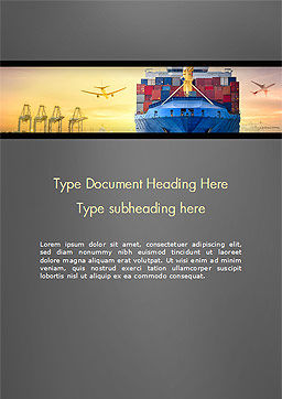 Shipping and Freight Forwarding Word Template, Cover Page, 15132, Careers/Industry — PoweredTemplate.com