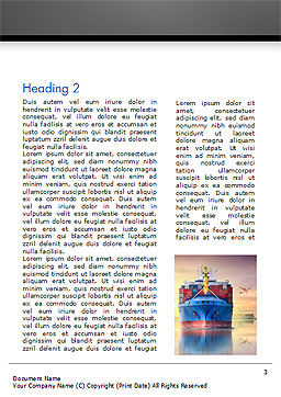 Shipping and Freight Forwarding Word Template, Second Inner Page, 15132, Careers/Industry — PoweredTemplate.com