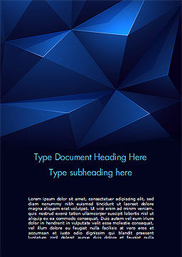 Blue Abstract Geometric Triangles Word Template, Cover Page, 15133, Abstract/Textures — PoweredTemplate.com