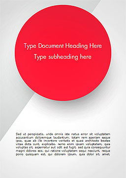 Red Circle Word Template, Cover Page, 15136, Abstract/Textures — PoweredTemplate.com