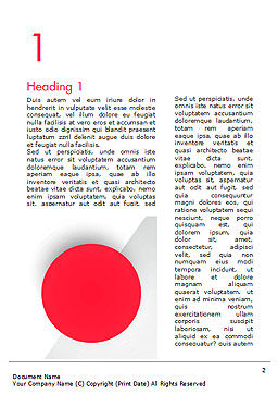 Red Circle Word Template, First Inner Page, 15136, Abstract/Textures — PoweredTemplate.com