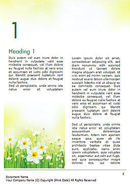 Daffodils Word Template, First Inner Page, 15138, Nature & Environment — PoweredTemplate.com