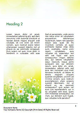 Daffodils Word Template, Second Inner Page, 15138, Nature & Environment — PoweredTemplate.com