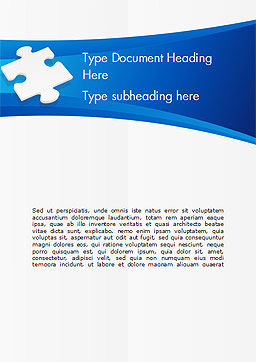 Piece of White Puzzle Word Template, Cover Page, 15139, Business Concepts — PoweredTemplate.com