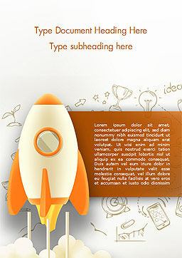 Startup Concept Word Template, Cover Page, 15140, Business Concepts — PoweredTemplate.com