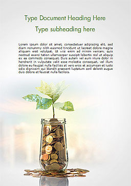 Technology Investment Word Template, Cover Page, 15143, Financial/Accounting — PoweredTemplate.com