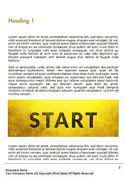 Businessman Standing in Start Position Word Template, First Inner Page, 15145, Business Concepts — PoweredTemplate.com