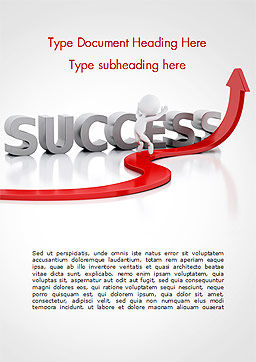 Concept of success and 3D Man Word Template, Cover Page, 15147, Business Concepts — PoweredTemplate.com
