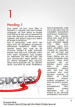 Concept of success and 3D Man Word Template, First Inner Page, 15147, Business Concepts — PoweredTemplate.com