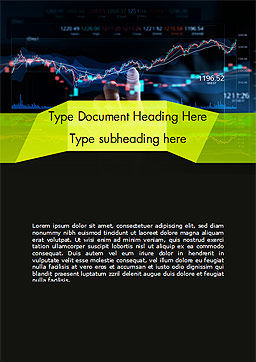 Trading Graph Word Template, Cover Page, 15152, Financial/Accounting — PoweredTemplate.com